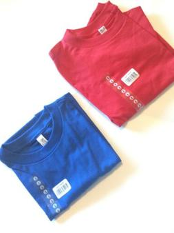 2 alstyle apparel activewear Youth T-shirt Red And Blue Size