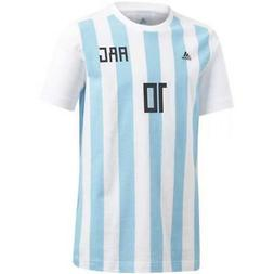 adidas 2018 World Cup Argentina Youth Messi 10 Tee T-Shirt C