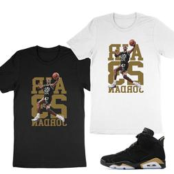 Unisex Tee T-Shirt to Match 23 Michael Air Jordan 6 Retro DM