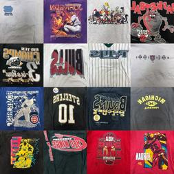 Vintage 90s Lot of 20 Sports NBA NFL College Graphic Kids Bo