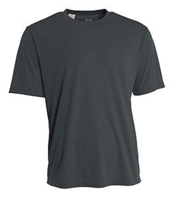 A4 Youth Cooling Performance Crew Short Sleeve T-Shirt, Grap