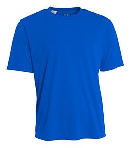 A4 Youth Cooling Performance Crew Short Sleeve T-Shirt, Roya