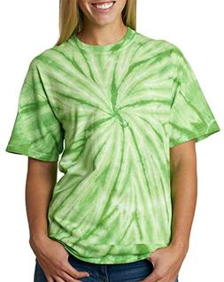 Adult one-color vat-dyed cyclone tee.