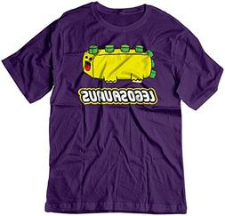 BSW Youth Legosaurus Lego Cute Dinosaur Block Shirt MED Purp