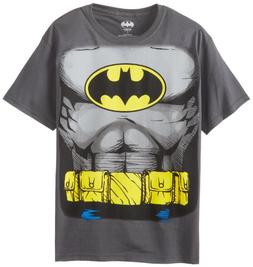 Batman Costume Boys Chronicle Muscle Tee, Grey, X-Large
