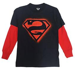 Bioworld Superman Long Sleeve Kid's Youth T-Shirt M-8