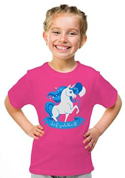 Birthday Girl Unicorn | Neon Pink Unicorn B-day Party Top Gi