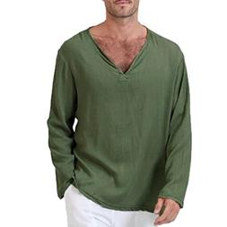 Clearance Sale! Wintialy Mens Summer T-Shirt Cotton Linen Th