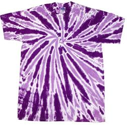 Colortone Tie Dye T-Shirt 5X Twist Purple
