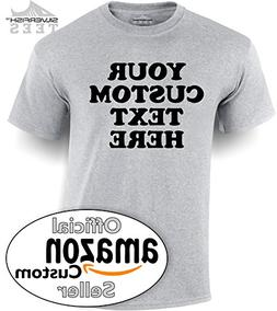 Customized Your Text Here Personalized Custom T-Shirt Men/Wo
