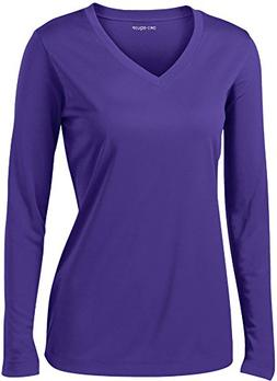 DRI-EQUIP - Ladies Long Sleeve Moisture Wicking Athletic Shi