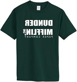 DUNDER MIFFLIN PAPER COMPANY T-Shirt~Forest Green~Youth-LG