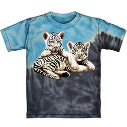Dawhud Direct White Tiger Cubs Tie-Dye Youth Tee Shirt