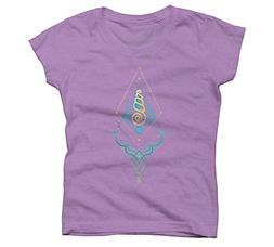 Design By Humans Wonder Under Water Girl's X-Large Purple Be