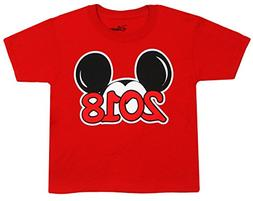 Disney Youth Exclusive 2018 Mickey Mouse Ears T-Shirt Red La