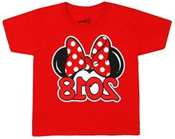 Disney Youth Exclusive 2018 Minnie Mouse Ears T-Shirt Red La