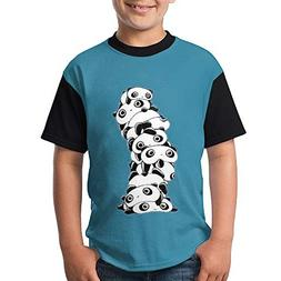 ENGJDHEH Teenager T Shirt Bear Teen Short Sleeve Black Youth