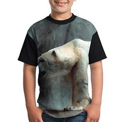 ENGJDHEH Teenager T Shirt Bears Background Teen Short Sleeve