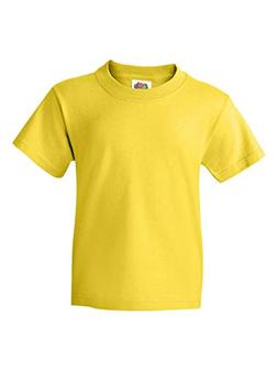FOL-Fruit of the Loom 5.6 oz Cotton Youth T-shirt~Yellow~You