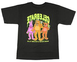 Five Nights At Freddy's Celebrate Glow Boys Youth T-shirt Li