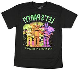 Five Nights At Freddy's Let's Party Boys Youth T-shirt Licen