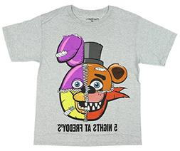 Five Nights At Freddy's Split Face Boys Youth T-shirt M