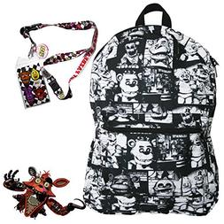 Five Nights at Freddy's Backpack with Lanyard and Keychain C