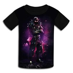 Fortnite Raven Fantasy Purple Smoke Kids Casual T-Shirt Yout