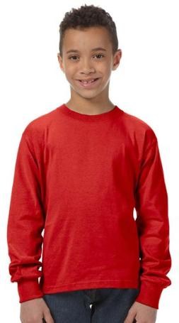 Fruit Of The Loom Heavy Cotton Hd Youth Long Sleeve Tee