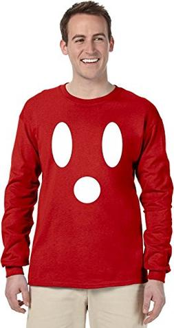 Ghost Face Long Sleeve T-Shirt~Red~Youth-SM