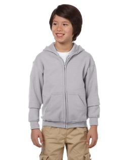 Gildan Heavy Blend Youth 8 oz., 50/50 Full-Zip Hood, Medium,