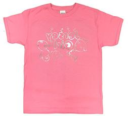 Girls 4-20 Jersey Girl Glittery Foil Print Youth T-Shirt , A
