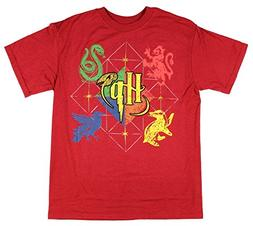 HARRY POTTER Hogwarts Animals Boys Youth T-Shirt Licensed