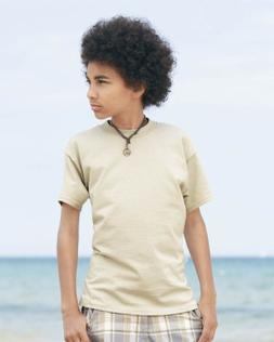 Hanes Youth Beefy-T, Denim Blue , Small