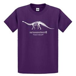 Indica Plateau Youth Brontosaurus Medium Purple Kids T-Shirt