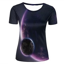 Jing Tees Womens 3D Printed Graphic Beautiful Purple Mysteri