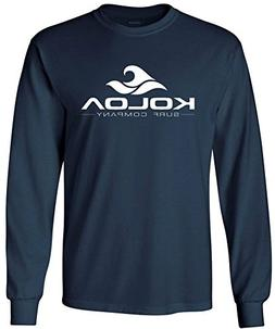 Joe's USA Koloa Surf. Wave Logo Long Sleeve Heavy Cotton Cre
