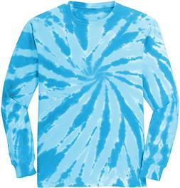 Joe's USA Koloa Surf  Youth Colorful Long Sleeve Tie-Dye T-S