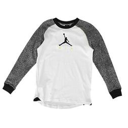 Jordan Boys Youth Elephant Print Long Sleeve Raglan T-Shirt