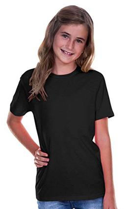 Kavio! Youth Crew Neck Short Sleeve Tee Jersey  Black L