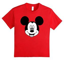 Kids Disney Mickey Mouse Happy Face T-Shirt 6 Red