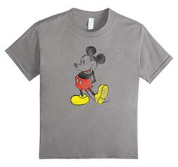 Kids Disney Mickey Mouse Vintage Effect T Shirt 6 Slate