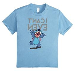 Kids Disney Stitch Can't Even T Shirt 8 Baby Blue