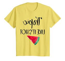 Kids Tropic Like Its Hot Summer Tshirt Watermelon 10 Lemon
