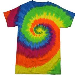 Krazy Tees Tie Dye T-Shirt, Moondance, Youth M