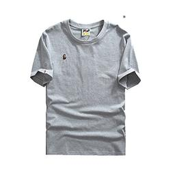 M2T T Shirt Round Collar Outdoor Embroidery Pullover Zipper
