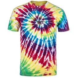Magic River Handcrafted Tie Dye T Shirts - Rainbow - Adult S