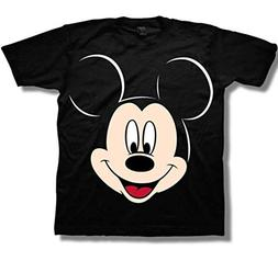 Mickey Mouse Little Boys' Face Toddler Tee, Black, 5T