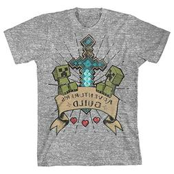 Minecraft Aventurer's Guild Big Boys Youth T-Shirt Licensed