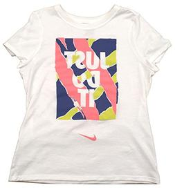 NIKE Girls Youth Cotton Graphic Tee T-Shirt Size M, L